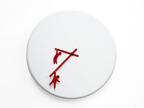 Time2play Wall Clock White | Red Progetti Alessia Gasperi 3
