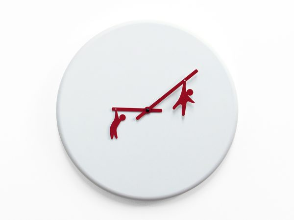 Time2play Wall Clock White | Red Progetti Alessia Gasperi 1