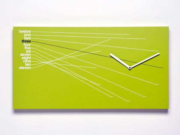 Zeitleiste Grüne Wanduhr Progetti Alberto Sala 2