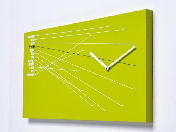 Zeitleiste Grüne Wanduhr Progetti Alberto Sala 1