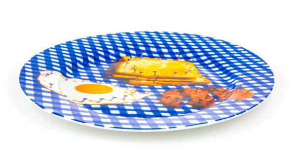 Assiette en papier hygiénique - Petit déjeuner multicolore Seletti Maurizio Cattelan | Pierpaolo Ferrari
