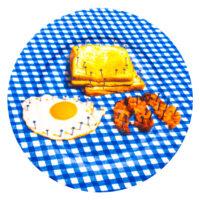 トイレットペーパープレート - 色とりどりの朝食Seletti Maurizio Cattelan | Pierpaolo Ferrari