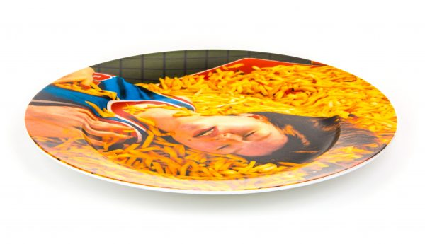 Plato de papel higiénico - Seletti Chips multicolores Maurizio Cattelan | Pierpaolo Ferrari