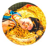 Toiletpaper Plate - Seletti Multicolored Chips Maurizio Cattelan | Pierpaolo Ferrari