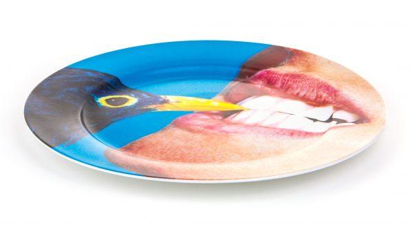 Plato de papel higiénico - Cuervo multicolor Seletti Maurizio Cattelan | Pierpaolo Ferrari