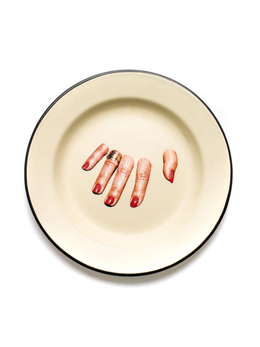 Toiletpaper Plate - Seletti Multicolored Fingers Maurizio Cattelan | Pierpaolo Ferrari
