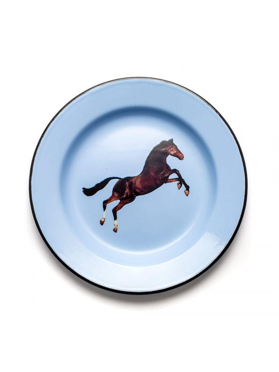 Toiletpaper Plate - Seletti Multicolored Horse Maurizio Cattelan | Pierpaolo Ferrari