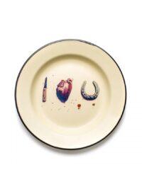 トイレットペーパープレート - 私はあなたを愛して色とりどりのSeletti Maurizio Cattelan | Pierpaolo Ferrari