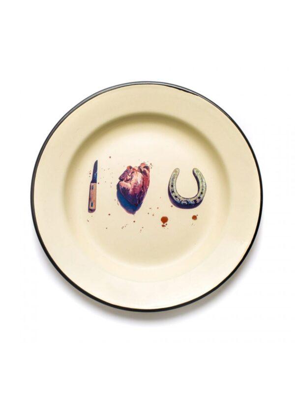 Plaque de papier toilette - Je t'aime multicolore Seletti Maurizio Cattelan | Pierpaolo Ferrari