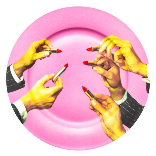 Toiletpaper Plate - Seletti Multicolored Lipsticks Maurizio Cattelan | Pierpaolo Ferrari