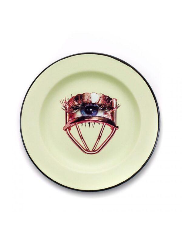 Assiette en papier hygiénique - Oeil multicolore Seletti Maurizio Cattelan | Pierpaolo Ferrari