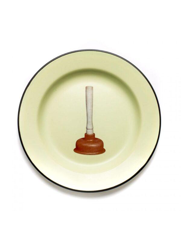 Toiletpaper Plate - Seletti Multicolored Plunger Maurizio Cattelan | Pierpaolo Ferrari
