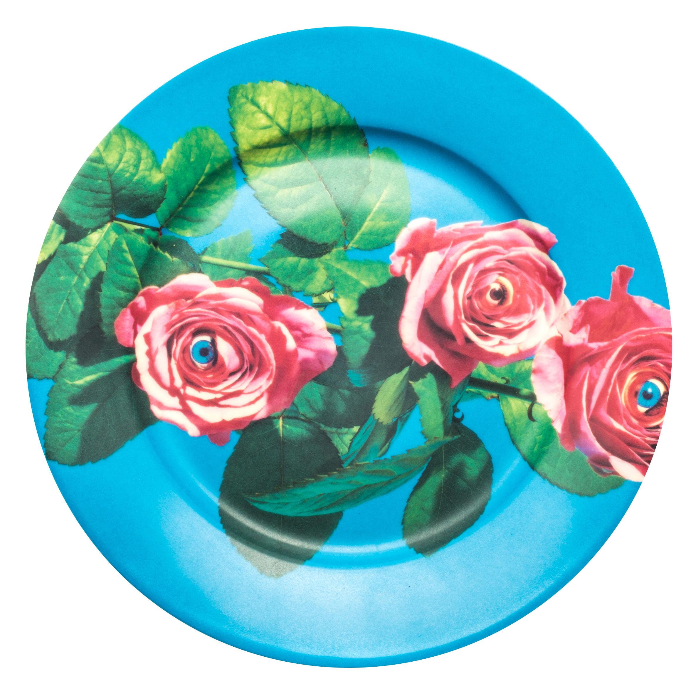 Toiletpaper Plate - Seletti Multicolored Roses Maurizio Cattelan | Pierpaolo Ferrari