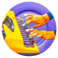 Piatto Toilettenpapier - Seletti Multicolore Schreibmaschine Maurizio Cattelan | Pierpaolo Ferrari