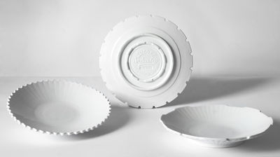 Deep plate Machine Collection / 23,2 cm Ø - Set 3 White Diesel living with Seletti Diesel Creative Team 1