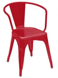 A56 Red Armchair Tolix Xavier Pauchard 1
