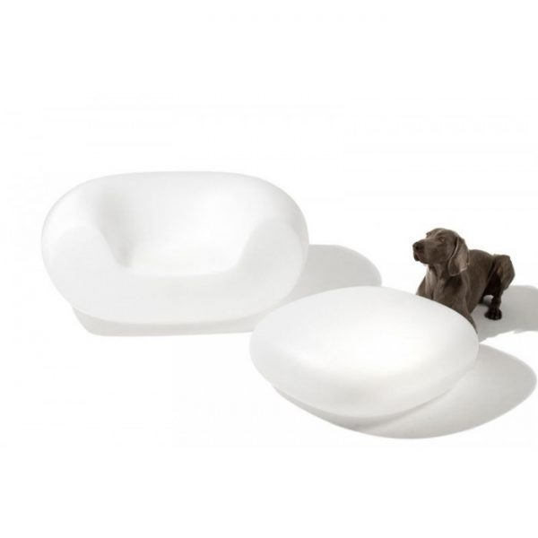 Chubby Armchair White Slide Marcel Wanders 1