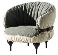 Armchair chic Chubby Light gray | Dark gray Diesel with Moroso Diesel Creative Team 1