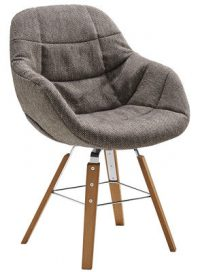 Armchair Eve / 4 wooden legs Brown | Natural wood Zanotta Ora Ito 1