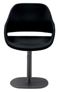Armchair Eve central foot Black Zanotta Ora Ito 1