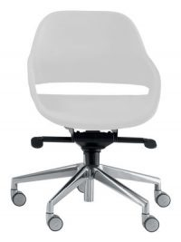Eva White office chair | Aluminium Zanotta Ora Ito 1