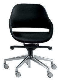 Eva black office chair | Aluminium Zanotta Ora Ito 1