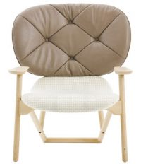 Klara sillón blanco | Beige | madera ligera Moroso Patricia Urquiola 1