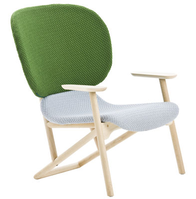 Klara Armchair White | Green | Light wood Moroso Patricia Urquiola 1