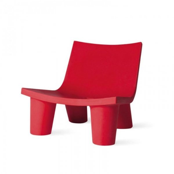 Low Lita Red Armchair Slide Paola Navone 1