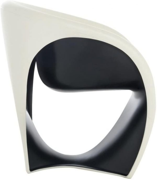 Poltrona MT1 Bianco sabbia|Nero Driade Ron Arad 1