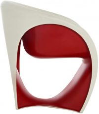 MT1 Armchair White sand | Red Driade Ron Arad 1