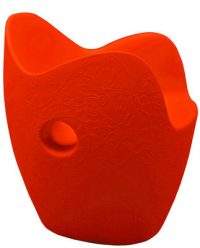 Fauteuil O-Nest orange rouge Moroso Tord Boontje 1