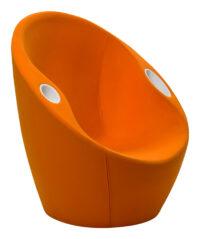 Autsch Sessel mit Casamania Orange Karim Rashid Ellbogenstützen
