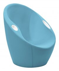Ouch armchair with elbow rests Blue Casamania Karim Rashid