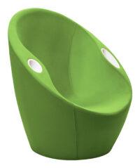 Poltrona Ouch con poggiagomiti Verde Casamania Karim Rashid