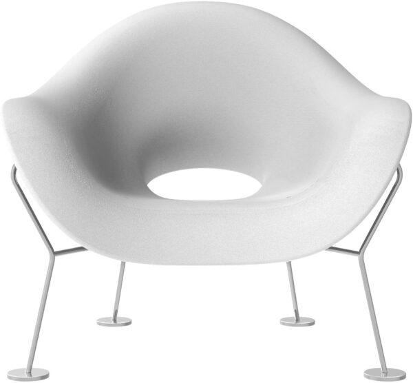 Λευκό πολυθρόνα Pupa | Chromed Qeeboo Andrea Branzi 1