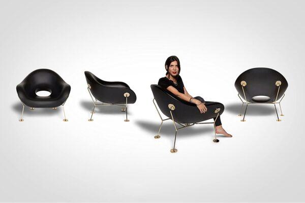 Pupa Black Armchair | Qeeboo Messing Andrea Branzi 3