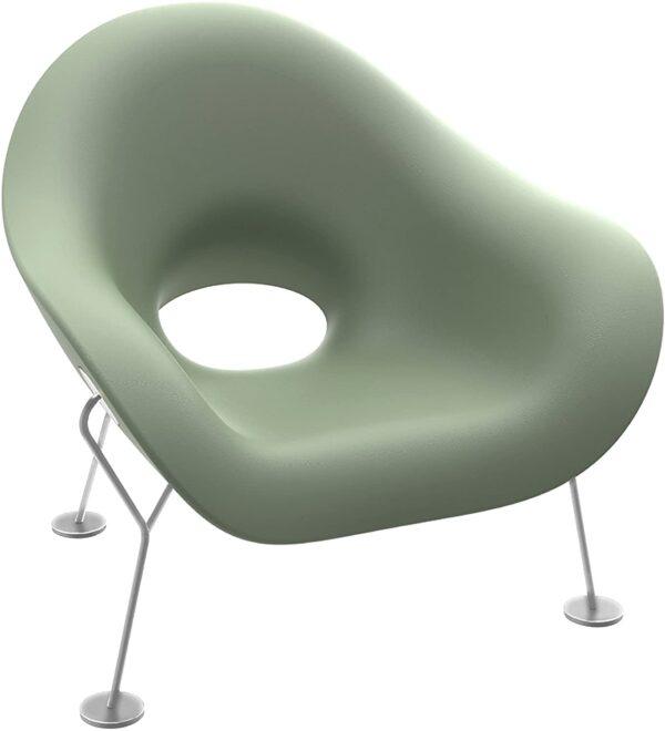 Pupa Armchair Balsamo Green |クロームメッキQeebooAndrea Branzi 2