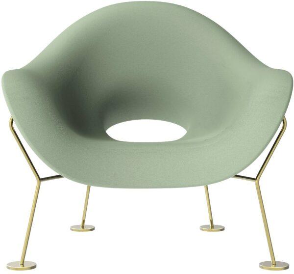 Pupa Balsam Green Armchair | Qeeboo Messing Andrea Branzi 1