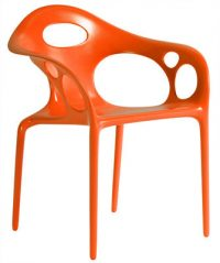 Supernatural chèz Moroso Ross Lovegrove Orange 1