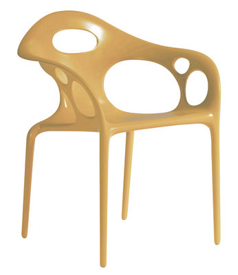 chaise Supernatural Moroso Ross Lovegrove Caramel 1