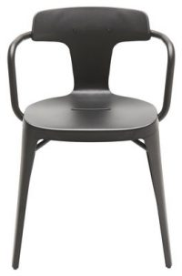 Armchair T14 / Inox - For outdoor use Black Tolix Patrick Norguet 1