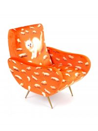 Toilettenpapier Sessel - Multicolor Katze | Orange Seletti Maurizio Cattelan | Pierpaolo Ferrari