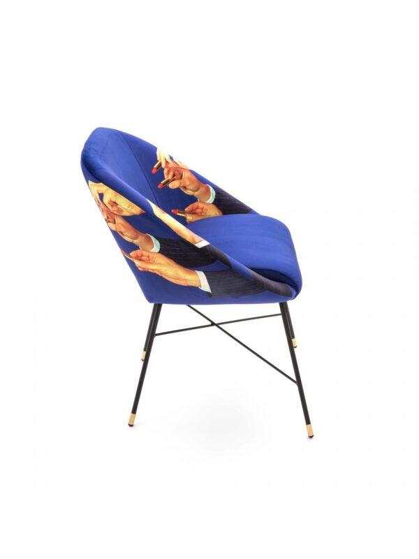 Sillón de papel higiénico - Lápices labiales - L 60 cm Multicolor | Seletti Blue Maurizio Cattelan | Pierpaolo Ferrari