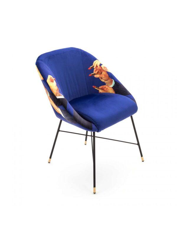 Καρέκλα για ταπετσαρίες - Κραγιόν - L 60 cm Πολύχρωμο | Seletti Blue Maurizio Cattelan | Pierpaolo Ferrari