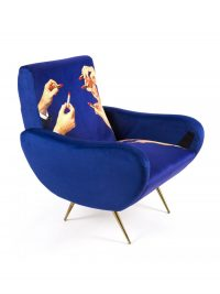 Multicolored Toiletpaper Chair Lipsticks | Seletti Blue Maurizio Cattelan | Pierpaolo Ferrari