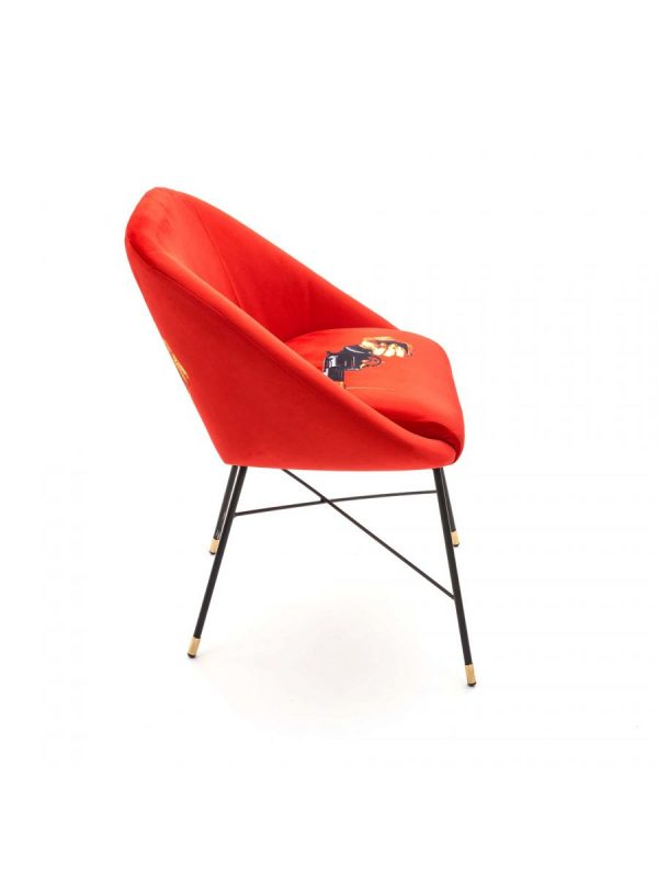 Fotèy twalèt - Revòlvè - L 60 cm Multicolor | Orange Seletti Maurizio Cattelan | Pierpaolo Ferrari