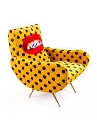 Καρέκλα για ταπετσαρίες - Πολύχρωμα σκατά | Seletti Κίτρινο Maurizio Cattelan | Pierpaolo Ferrari