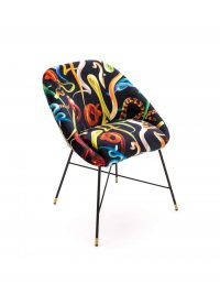 Toiletpaper Armchair - Snakes - L 60 cm Multicolor | Seletti Black Maurizio Cattelan | Pierpaolo Ferrari