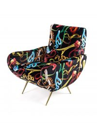 Sillón de papel higiénico - Serpientes multicolores | Seletti Black Maurizio Cattelan | Pierpaolo Ferrari
